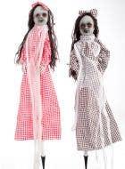 Twin Doll Garden Stakes Halloween Decoration