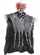 Evil Light Up Eyes Hanging Clown Prop - Main Image
