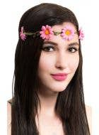 Hippy Pink Daisy Chain Flower Crown Accessory
