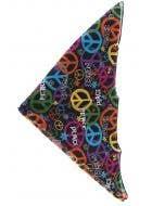 Rainbow 70's Hippie Pattern Bandana Costume Accessory - View 1