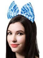 Jumbo Plush Bow Headband Oktoberfest Accessory