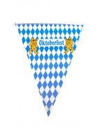 Oktoberfest Blue and White Bavarian Flags Decoration