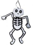 Black and White Felt Hinged Skeleton Child Friendly Halloween Decoration