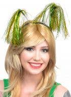 Green and Gold Aussie Colours Tinsel Headband