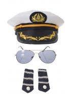 Navy Officer's White Sailor Costume Accessory Kit