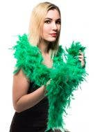 Green Feather Boa Costume Accessory Main Image