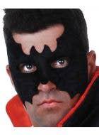 Men's Black Velvet Simple Batman Masquerade Mask