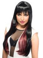 Cora Black and Red Deluxe Women's Fashion Wig