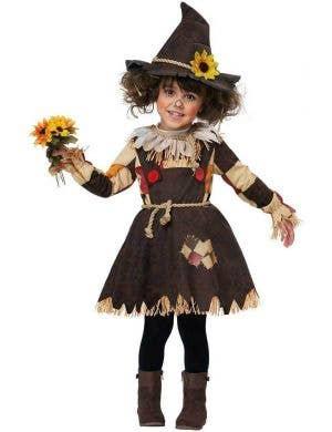 Toddler Girls Pumpkin Patch Scarecrow Fancy Dress Book Week Halloween Costume
