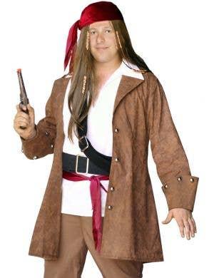 Captain Jack Plus Size Men's Pirate Captain Costume