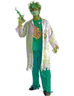Biohazard Surgeon Men's Halloween Zombie Doctor Costume