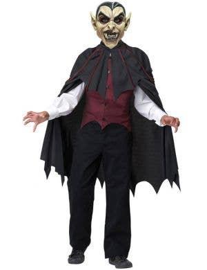 Dracula Boy's Vampire Monster Halloween Fancy Dress Front