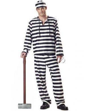 Jailbird Men's Prison Convict Costume