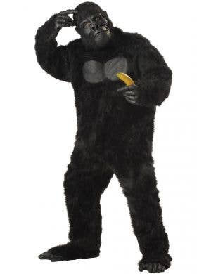 King Kong Black Fur Gorilla Adult's Costume Main Image
