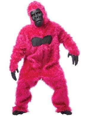 Hot Pink Deluxe Gorilla Suit Adult's Costume