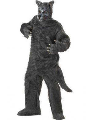 Big Bad Wolf Men's Grey Halloween Costume
