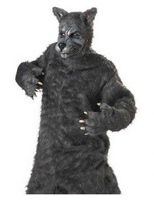 Big Bad Wolf Plus Size Men's Grey Halloween Costume