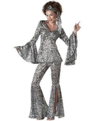 Foxy Lady Sequined Women's 1970's Disco Costume