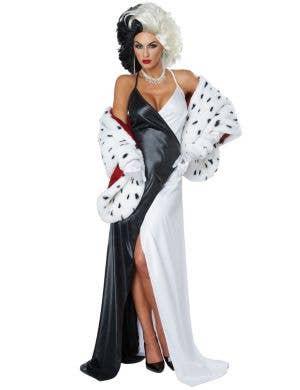 Cruel Diva Women's Sexy Cruella De Vil Costume
