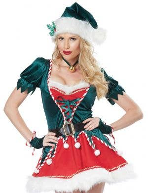 Santa's Helper Sexy Women's Christmas Elf Costume