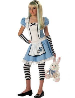 Alice in Wonderland Traditional Blue Fancy Dress Costume Main Image