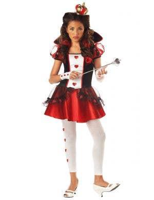 Teen Girls Queen Of Hearts Costume Main Image