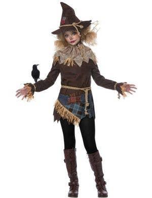 Creepy Scarecrow Tween Girls Halloween Costume