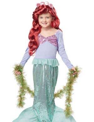 Mermaid Sea Weed Girl's Green Boa Costume Accessory