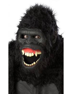 Goin' Ape Deluxe Animotion Moving Gorilla Mask Costume Accessory