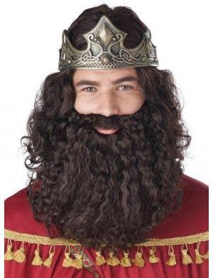 Biblical Men's Brown Costume Wig and Beard Set