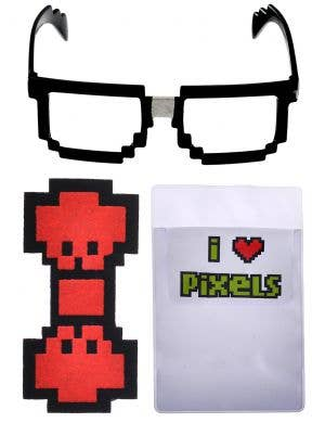 Pixel 8 Nerd Glasses and Bow Tie Accessory Kit
