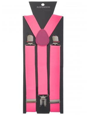 Adult's Pink Costume Suspenders