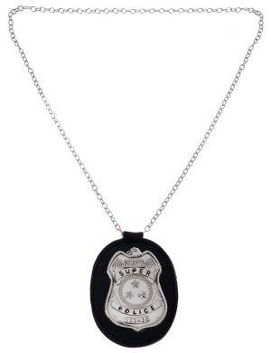 Metal Police Badge Costume Necklace