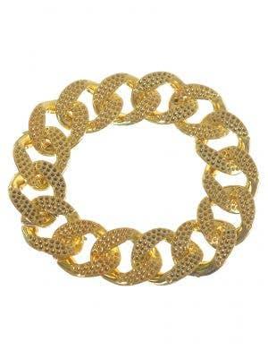 Rapper Gold Chain Costume Bracelet