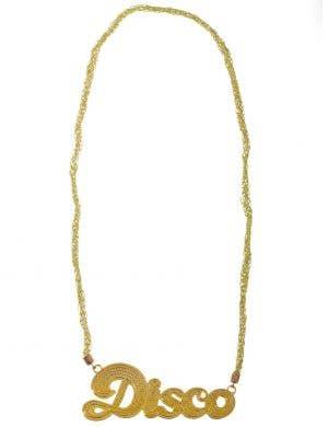 Jumbo 1970s Gold Disco Costume Jewellery Necklace