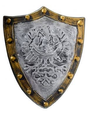 Barbarian Deluxe Gold and Silver Medieval Battle Shield