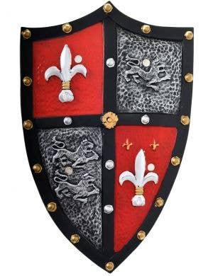 Heavy Medieval Knight Deluxe Battle Shield
