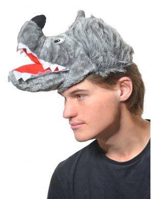 Adults Big Bad Wold Grey Fluffy Plush Novelty Hat