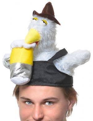 Oktoberfest Drunk Chicken Plush Funny Adult's Hat