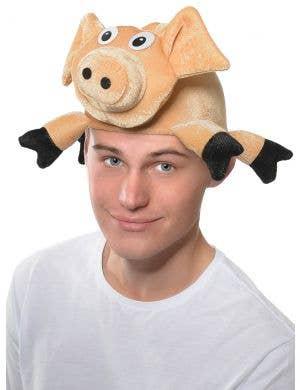 Adults Cute Pig Plush Novelty Costume Hat