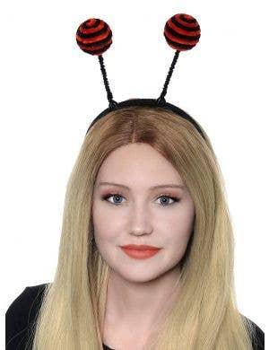 Lady Bug Antenna on Headband Costume Accessory