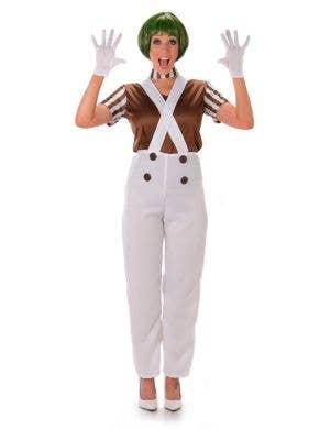 Women's Brown Oompa Loompa Costume Main Image