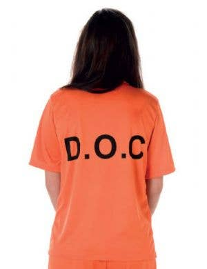 Inmate Women's Orange Prisoner Uniform Costume