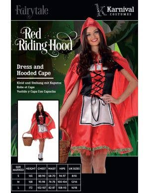 Fairytale Red Riding Hood Women's Costume