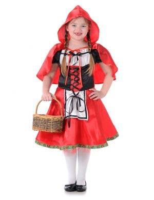 Little Red Riding Hood Girls Fancy Dress Costume Main Image