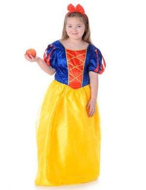 Girls Snow White Fancy Dress Costume Main Image