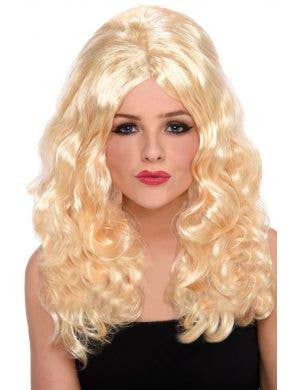 Pammy Women's Long Wavy Blonde Costume Wig