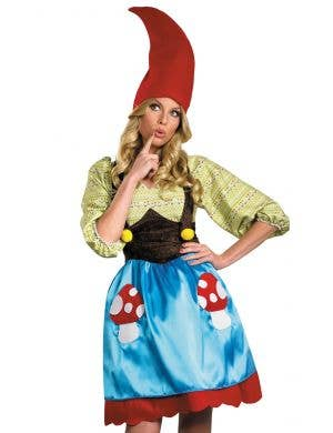 Miss Gnome Women's Smurfette Fancy Dress Costume