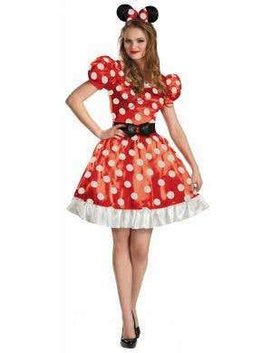 Red and White Polka Dot Classic Minnie Mouse costume for Women