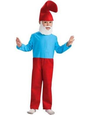 Papa Smurf Boy's The Smurfs Cartoon Costume Front View